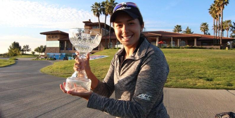 Daniela Darquea hace historia en el golf ecuatoriano