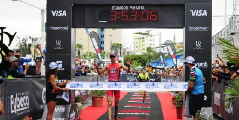 Reinaldo Colucci ganó el Ironman de Manta