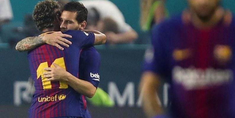 A través de sus redes sociales Messi se despidió de Neymar