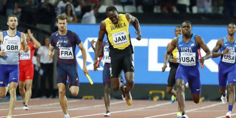 Usain Bolt se lesionó en su última carrera en el Mundial de Atletismo