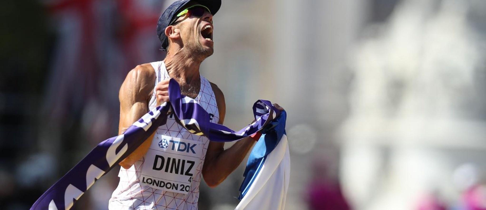 El francés Yohann Diniz se quedó con el oro en los 50 km marcha