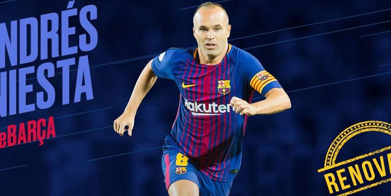 Andrés Iniesta renueva de por vida con el FC Barcelona