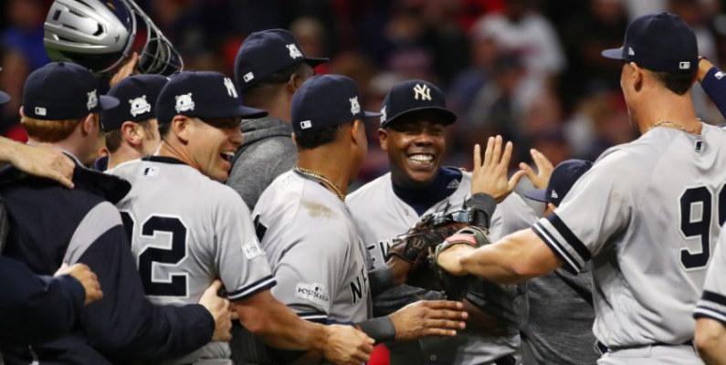 Yankees derrotan a Indios y disputarán contra Astros el título de la Liga Americana de béisbol
