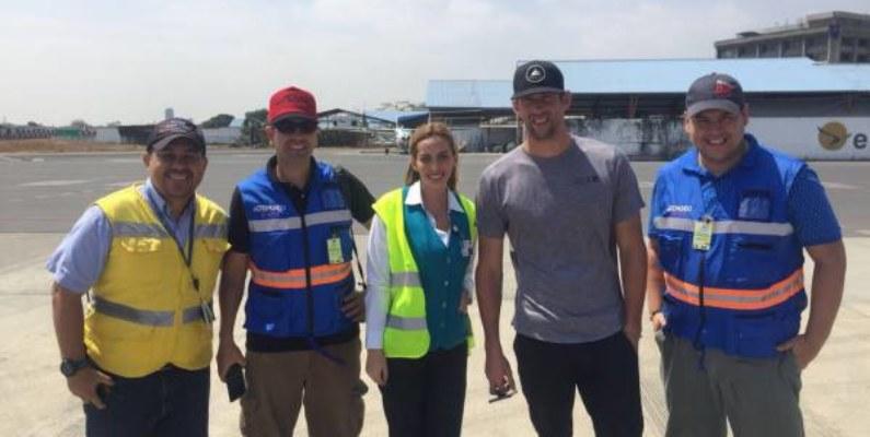 Michael Phelps estuvo de paso en Guayaquil